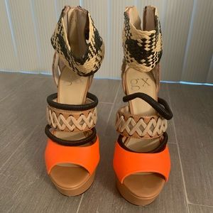 Gx by Gwen Stefani Multi Colored Heels. Size 6M.